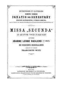 Hassler Missa II