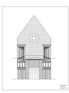New antiphonal case design from Schoenstein organ builders.
